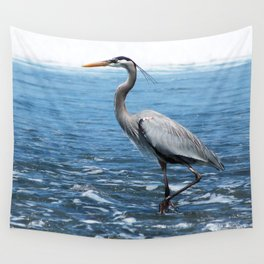 Great Blue Heron on the Pacific Coast in Costa Rica Wall Tapestry