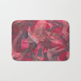 Impetuous, Abstract Art Painting Red Copper Gray Bath Mat