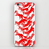 foxes iPhone & iPod Skins featuring FOXES by Riku Ounaslehto