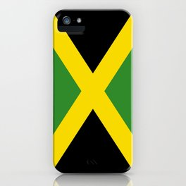 Flag of Jamaica-Jamaican,Bob Marley,Reggae,rastafari,weed,cannabis,ganja,america,south america,ragga iPhone Case