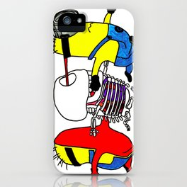 Minion's anatomy iPhone Case