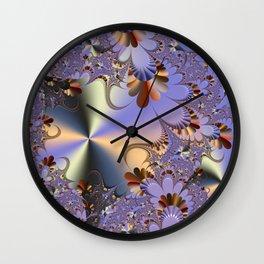 Metallic Shine with Fractals Wall Clock