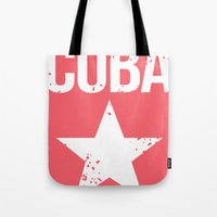 cuba Tote Bags featuring CUBA by Department M
