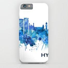 Hyderabad Telangana Skyline Blue iPhone Case