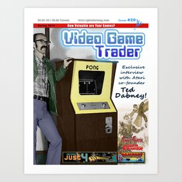 Video Game Trader #20 Cover Design  Art Print