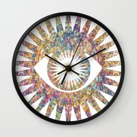prism Wall Clocks featuring PRISM by shutupbek