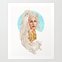 versace Art Prints featuring Versace Venus by Helen Green