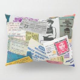Concert Ticket Stub Backstage Passes - The Boss Pillow Sham