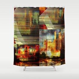 Transit city Shower Curtain