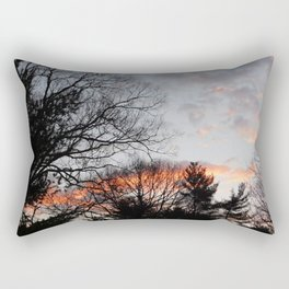 red clouds in the sky Rectangular Pillow