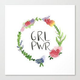 GRL PWR flowers Canvas Print