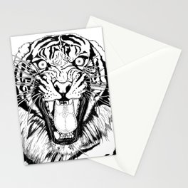 Tiger Black and white Stationery Cards