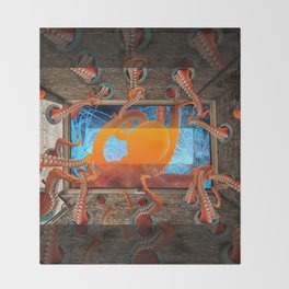 Octopus by GEN Z Throw Blanket