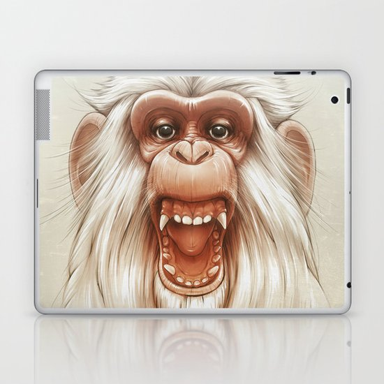 The White Angry Monkey Laptop & iPad Skin