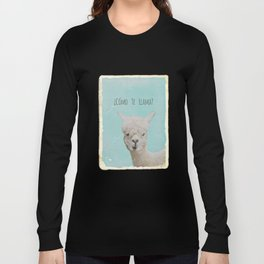 COMOTE LLAMA ? MINT Long Sleeve T-shirt