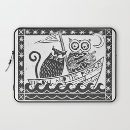 The Owl And The Pussycat (white background) Laptop Sleeve