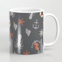 nautical Mugs featuring Nautical by Schwebewesen • Romina Lutz