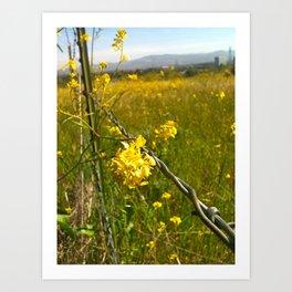 Touching Yellow Art Print