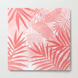 Elegant Tropical Blush Paradise Metal Print
