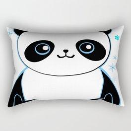 Pandacorn in the Snow Rectangular Pillow