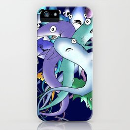 Silly Sharks iPhone Case