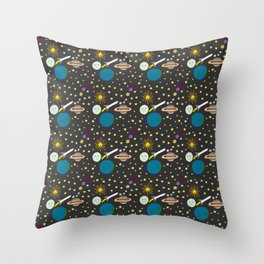 The Space Launch 2018 Throw Pillow