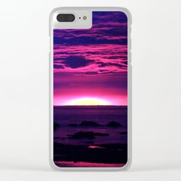 Incredible Sunset by the Sea Clear iPhone Case