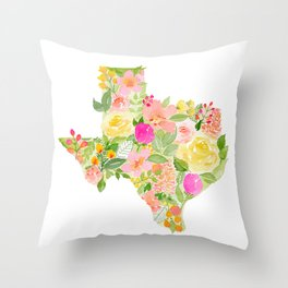 Yellow Rose of Texas - Painted States Series Throw Pillow