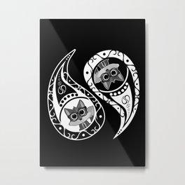 Ying Yang - Fox Nerd Metal Print