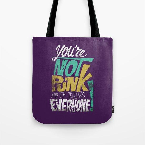 Not Punk Tote Bag