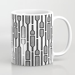 Spells - Hand Drawn Geometric Pattern (Black) Coffee Mug