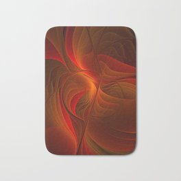 Warmth, Abstract Fractal Art Bath Mat