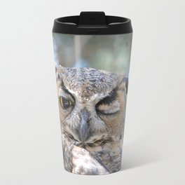 Owl Wink Travel Mug