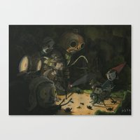 over the garden wall Canvas Prints featuring Over the Garden Wall by Patt Kelley