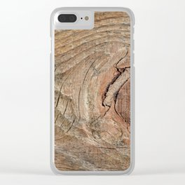 Wood with knot Clear iPhone Case