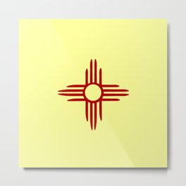 flag of new mexico hand drawn 2 Metal Print