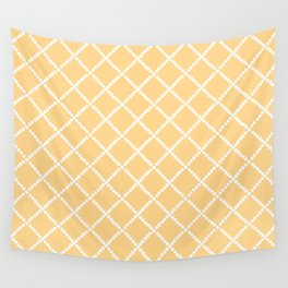 Criss Cross Yellow Wall Tapestry
