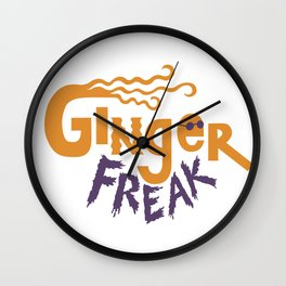 Ginger Freak Wall Clock