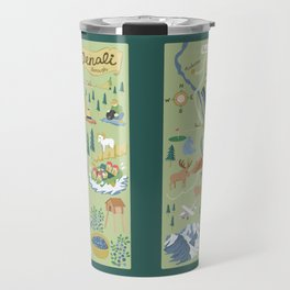 Denali Borough Map Travel Mug