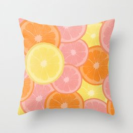 Citrus State of Mind Throw Pillow