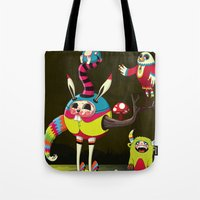 candy Tote Bags featuring Candy by Teodoru Badiu