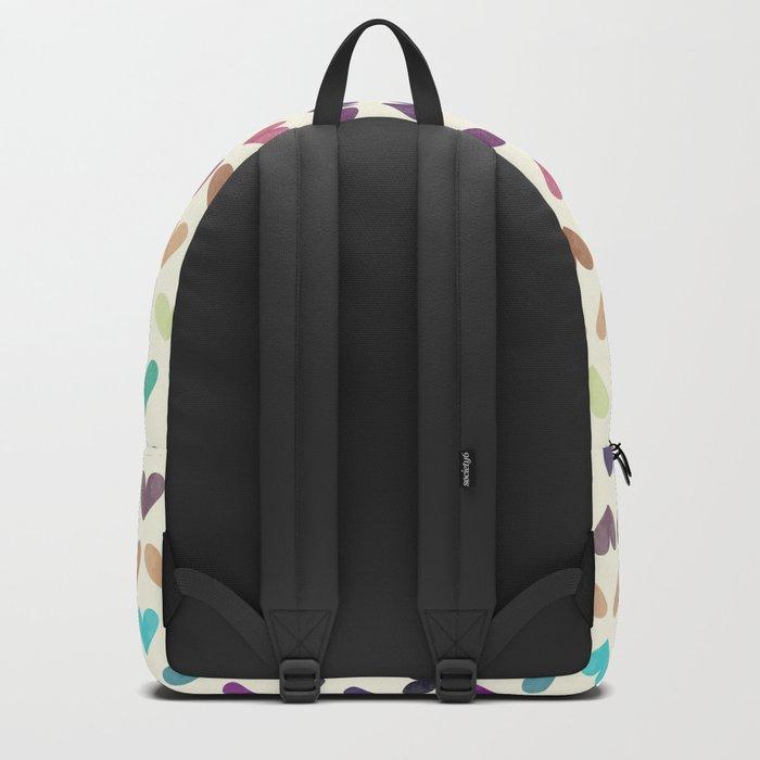 Colorful hearts III Backpack