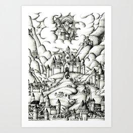 Pilgrimage to Santiago Art Print