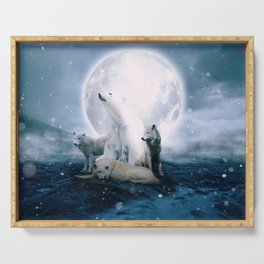 Wolves and the polar bear by GEN Z Serving Tray
