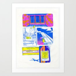 packet of cigarettes Art Print