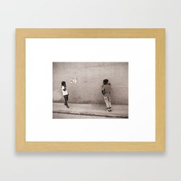 Children in Las Galeras Framed Art Print