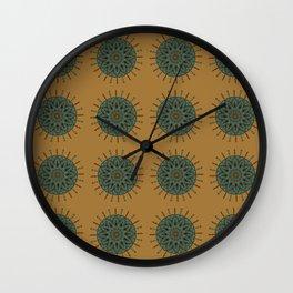 Himalayan Candy Ochre - Mini Mandala Pattern Wall Clock