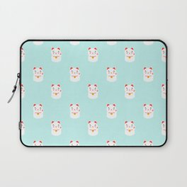 Lucky happy Japanese cat pattern Laptop Sleeve