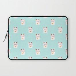 Lucky happy Japanese cat pattern Laptop Sleeve