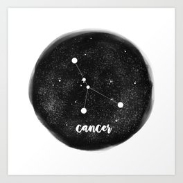 Minimal Zodiac, Cancer Art Print